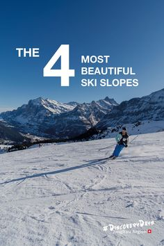 The 4 Most Beautiful Ski Slopes Bergen, Grindelwald, Perfect Day, Best Skis, Ski Slopes, Winter Sports, Winter Season, The 4, Mount Everest