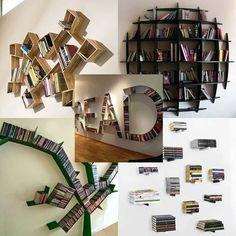 9. Creative book shelves
