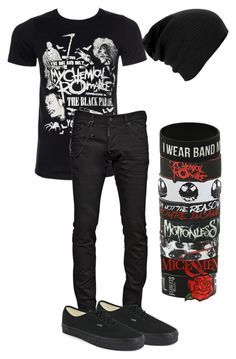 """""""My Ideal Outfit on A Guy....Maybe Add a Few Piercings"""" by bands-are-my-savior ❤ liked on Polyvore featuring Dsquared2 and Vans"""