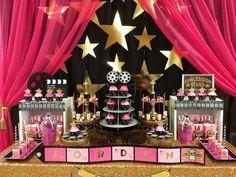 Anaida's Creations 's Birthday / Hollywood Theme - Jordan's Hollywood Birthday at Catch My Party Hollywood Party, Hollywood Birthday Parties, 13th Birthday Parties, Birthday Party Themes, 10th Birthday, Hollywood Star, Themed Parties, Birthday Ideas, Happy Birthday