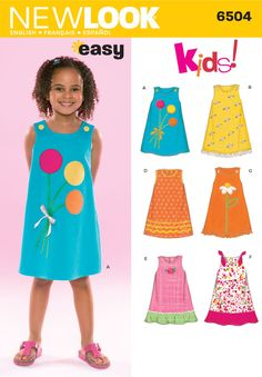 Child Dress Sewing Pattern 6504 New Look