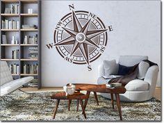 Wandaufkleber Kompass