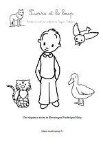 13 meilleures images du tableau contes pierre et le loup wolves wolf et preschool - Petit quick coloriage ...