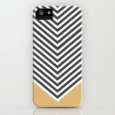 Gold+Chevron+iPhone++iPod+Case+by+Zeke+Tucker+-+$35.00 Available on society6.com