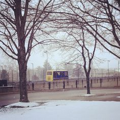 @j_coll's photo of a snowy capture of the PRT on Evansdale Campus. #WVU #WVUconnect #morgantown