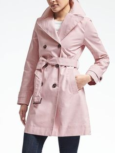 Dusty pink belted trench--Banana Republic