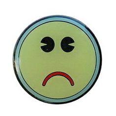 Geocaching / Geocoin lapel pin: Did Not Find, glow