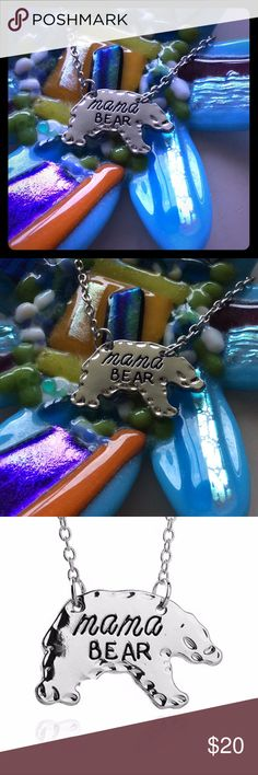 MAMA BEAR NECKLACE If you have kids you are most likely a mama bear! Ready to protect your cubs from anything at a moments notice! But since your cubs probably don't have a poshmark account TREAT YO SELF! Jewelry Necklaces