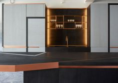 New Kitchen designed by #brunomoinardeditions for obumex @avenueroadfurniture #frenchdesign #lines #copper #details