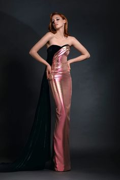 Haute Couture Gowns, Couture Fashion, Runway Fashion, Women's Fashion, Fancy Dress, Strapless Dress Formal, Formal Dresses, Formal Wear, Black Mermaid Dress