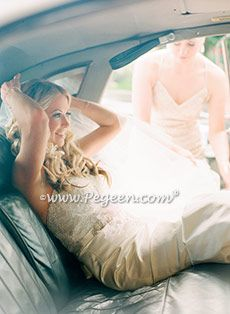 Gatsby Wedding by Pegeen Flower Girls. Bride's Gown by Lazaro