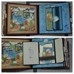 Beautifully Hand Crafted Mini Scrapbook Graphic 45 Mother GOOSE Theme Video | eBay