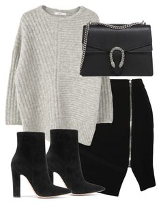 """Untitled #5542"" by theeuropeancloset on Polyvore featuring IRO, MANGO, Gucci and Gianvito Rossi"