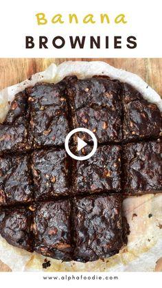 Vegan Recipes Videos, Raw Food Recipes, Mexican Food Recipes, Snack Recipes, Dessert Recipes, Sugar Free Brownies, Banana Brownies, Fudgy Vegan Brownies, Healthy Brownies