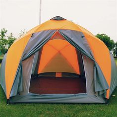 169.80$  Buy now - http://aliyjy.worldwells.pw/go.php?t=2001067237 - 8-10 person high quality Windproof waterproof outdoors 3000mm hex tent Durable family camping gear party marquee tente tenda