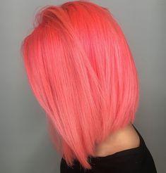 Hair Colour – My hair and beauty Coral Hair, Peach Hair, Pelo Multicolor, Color Fantasia, Hair Cutting Techniques, Coloured Hair, Cool Hair Color, Hair Colors, Mehndi Designs