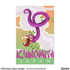 Ichinomiya Japan vintage holiday poster. Stationery