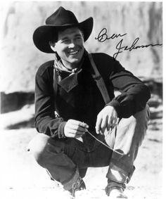 WAGON MASTER (1950) - Ben Johnson (pictured) - Joanne Dru - Harry Carey Jr. - Ward Bond - Charles Kemper - Alan Mowbray - Jane Darwell - Directed by John Ford - RKO-Radio Pictures - Publicity Still.