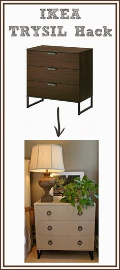 IKEA Hack: Fabric Covered TRYSIL Chest
