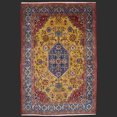 Exquisit Persian Rug Qum 7.2 x 4.9 ft / 215 x 145 cm cm vintage semi antique carpet Ghom Kurkwool and silk 7 x 5 ft