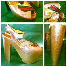 #vintage #vintagefashion #fashion #1970s #1973 #disco #platforms #platform #platformshoes #glitter #glam #glamrock #silver #gold #sparkles #metallic #goodytwoshoes #red #green #blue #ziggystardust #sparkle #70s #style #vintagestyle #70sglam (at Paper Doll Vintage Boutique)