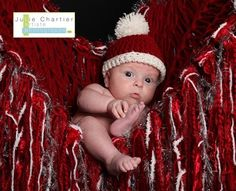 Holiday babies are the cutest! ;) Christmas Photo Prop Baby Blanket Fringe Hammock by BabyBirdz, $95.00 (photo by Julie Chartier Artiste Photographe)