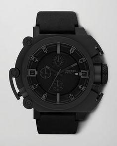 Matte Chronograph Watch by Diesel.