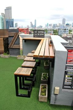 Roofdeck bar at the Z. Where to Stay in Manila: Z Hostel, Poblacion, Makati, Philippines