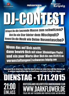 DJ CONTEST – Finale am 17.11.15  www.darkflower.de