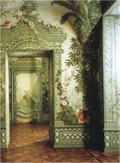 Not much additional decoration is needed when a room's painted like this.  Via: September Irises
