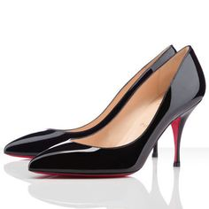 Fantastic And Fashionable Of Christian Louboutin Piou Piou 80mm Pumps Black CBV Hot Sale Online For You! #CL #Louboutin #Shoes