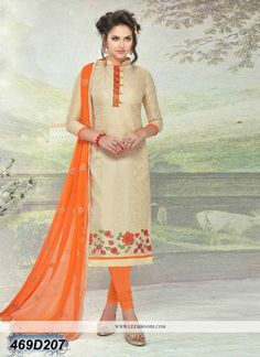 823a34545f Buy Ravishing Beige Coloured Brasso Cotton Unstitched Salwar Suit Get 10%  Off on Website with