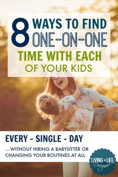 Yes! This is such a good reminder to make one-on-one time with our kids every day and the ideas are so easy to do! I really don't even have to change much to make one-on-one time. Sharing with my husband so we can start today.