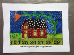 """Great tutorial for small """"Home"""" quilt"""