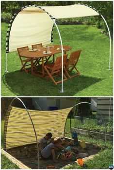 With the right construction, you can build a comfortable outdoor lounge by using