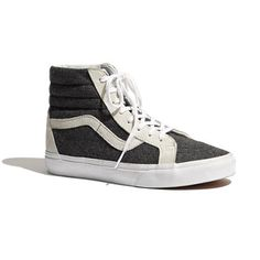 reality: Vans® & Madewell Classic SK8-Hi High-Tops in Wool - a perfect way to rock the dress-up sneaker fad