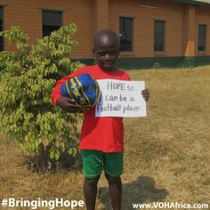 Kids in Africa love to play soccer/football. they play this sport as much as they can with family and friends.