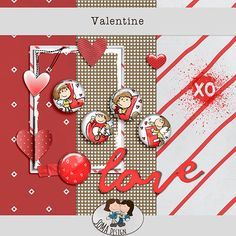 SoMaDesign Valentine Freebie Digital Scrapbooking, Playing Cards, Challenges, Events, Kit, Holiday Decor, News, Design, Playing Card Games