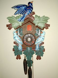 This is a very nice looking painted cuckoo clock visually i can see that the hands are broken it is a Regula 25 made in Germany,the only thing I can see on the inside that is wrong is one bellows is broken pieces included. This would be for repair or restore I do not know if it works.please see pictures for best description. | eBay!