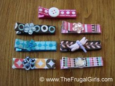 How to Make *Cute* Hair Clips for Babies and Little Girls! {SO easy!!} ~ at TheFrugalGirls.com #hair #clips