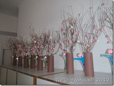 P2280312 Art Plastique, Spring Crafts, Glass Vase, Kindergarten, Projects To Try, Spring Summer, Winter, Blog, Preschool