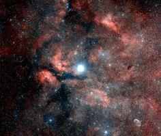 Nebula | The Gamma Cygni Nebula. Image size: 5.6°x4.7°. DSS image. © CalTech ...