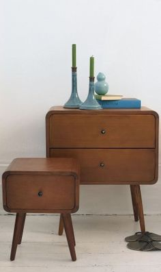 Sophisticated side cabinet with two sliding drawers. Scandinavian design.