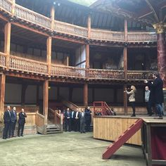 US President Barack Obama visited The Globe as part of commemorations marking the anniversary of Shakespeare's death. The President was welcomed into the Globe Theatre by the cast of Hamlet, home from their two-year tour to 197 countries. Globe Theatre, Theater, Us Presidents, Barack Obama, Countries, Stage, Anniversary, Tours, Teatro