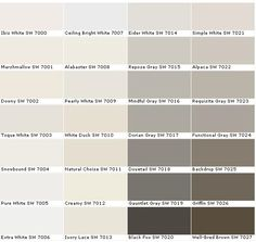 Sherwin Williams Paint Colors