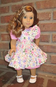 American Girl doll clothes Pink floral by JanieCarrollDesigns