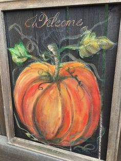 Pumpkin welcome sign,MADE TO ORDER,outdoor art for fall, fall decor,welcome fall…