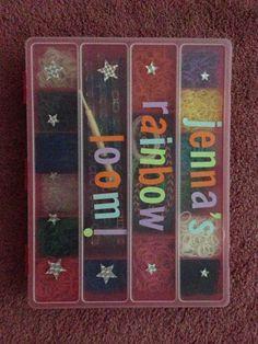 My Rainbow Loom Case :) Rainbow Loom Case, Fun Loom, Rubber Band Bracelet, Loom Bands, Birthday Parties, Diy Crafts, Craft Ideas, Storage, Holiday Decor