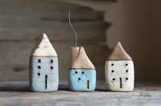 Hey, I found this really awesome Etsy listing at https://www.etsy.com/listing/215415201/set-of-three-miniature-cob-houses-hand