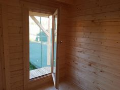 New upgraded cabin doors and windows for 2019 Cabin, Garden Log Cabins, Windows And Doors, Corner Summer House, Cabin Doors, Summer House, Table Tennis Room, Sleeping Loft, Snooker Room